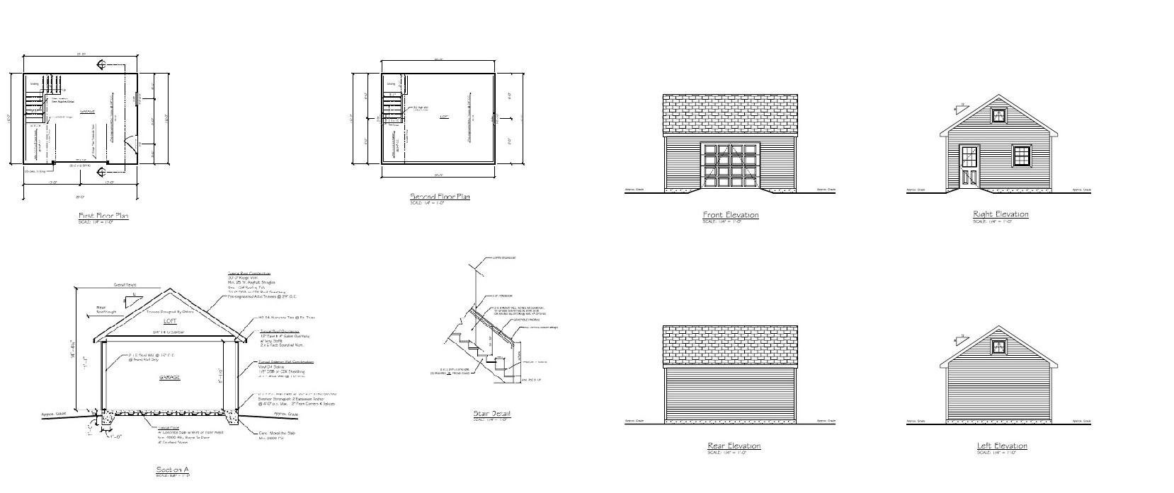 An Example Of A Customized Blueprint Of A One Car Garage We Built. Garage  Plans ...