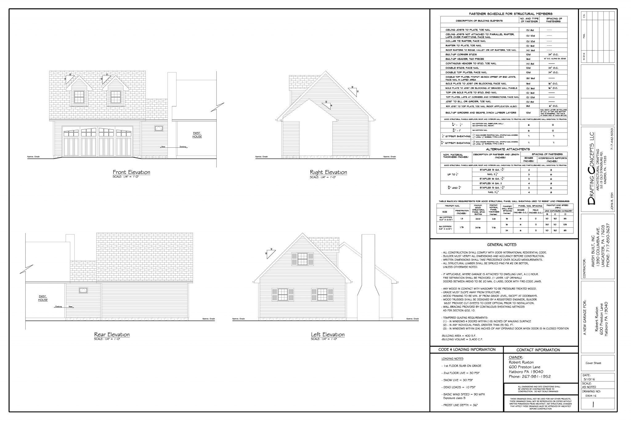 Amish Built Garages - Blueprints & Plans