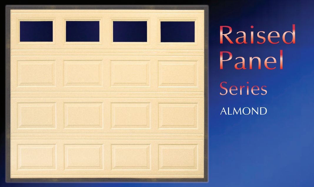 Raised Panel Series Garage Door for Amish Garages