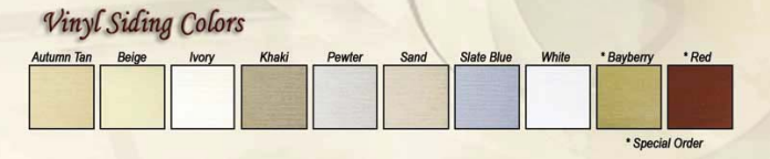 Amish Garage Vinyl Siding Colors