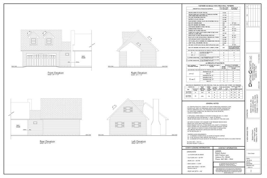 Popular Garage Blueprint