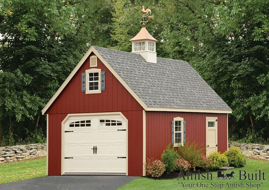 Single-Bay-Two-Story-Gable-Style-Garage