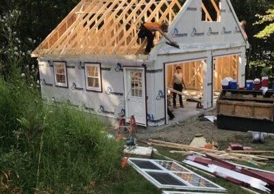 24 x 24 September 2017 Lagrangeville New York trusses being installed