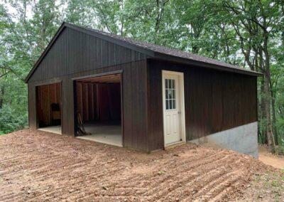 28x28 with T-111 siding stained and basment Amish Built Harrisburg _Pennsylvania